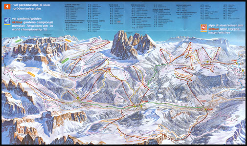Alpe di Siusi Map Alpe di Siusi Map