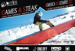 Games&amp;Steak flyer