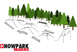 Snowpark Val Di Luce mappa strutture